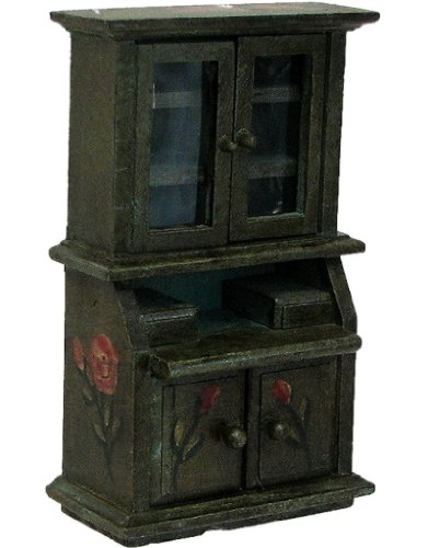 Antique Style Miniature Dollhouse Furniture Medium China Cabinet