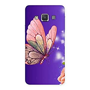 Cute Butterfly Pinkish Back Case Cover for Galaxy A3