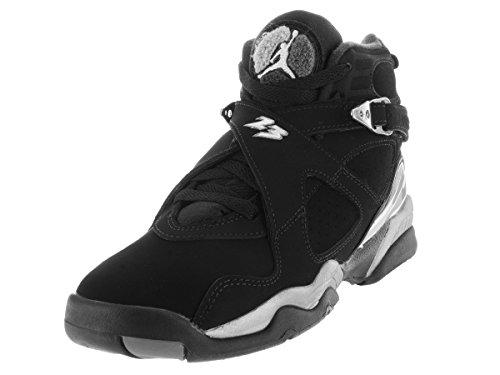 Nike Jordan Kids Jordan Air Jordan 8 Retro Bg Black/White/Lt Graphite Basketball Shoe 5 Kids US
