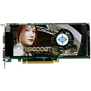 MSI N9600GT-T2D512 OC GeForce 9600 GT 512MB 256-bit GDDR3 PCI Express 2.0 x16 HDCP Ready SLI Supported Video Card