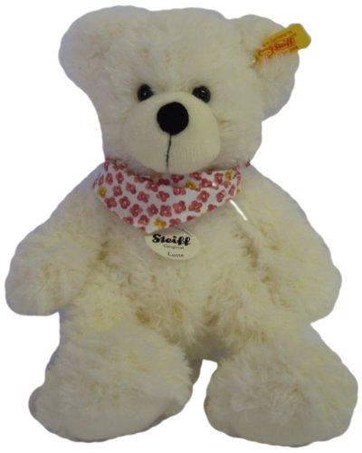 "Steiff 11"" Plush White ""Lotte"" Bear With Bandana front-826367"