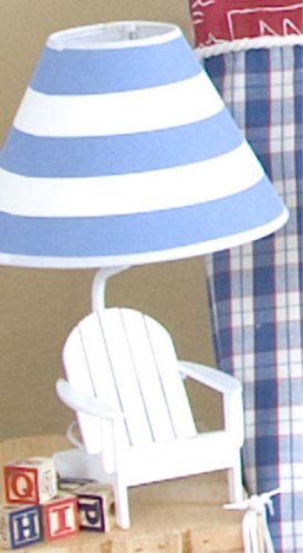 ADIRONDACK BEACH CHAIR LAMP table desk decor white blue