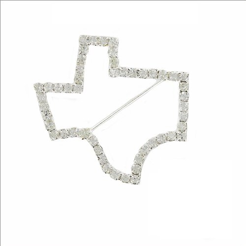 Texas Map Outline Pin #002016