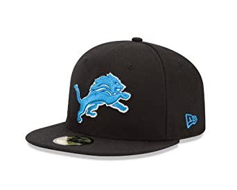 NFL Detroit Lions Black and Team Color 59Fifty Fitted Cap by New Era