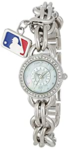 Game Time Ladies MLB-CHM-TEX Charm MLB Series Texas Rangers 3-Hand Analog Watch by Game Time
