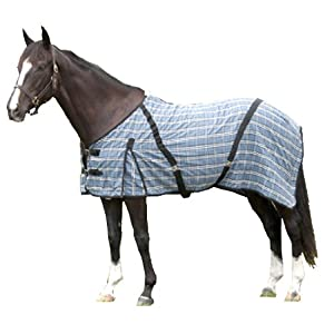 Intrepid International Horse Day Sheet, Blue Plaid