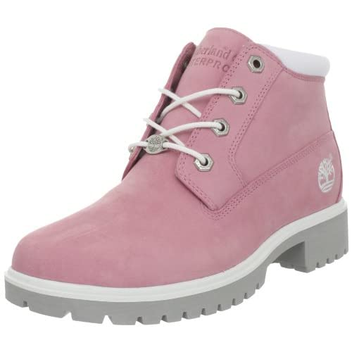 safetygirl steel toe waterproof womens work boots light pink