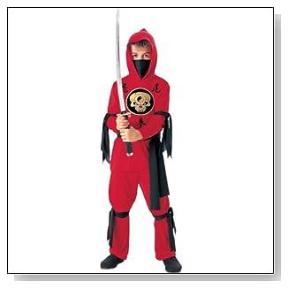Kids Ninja In Red Costume
