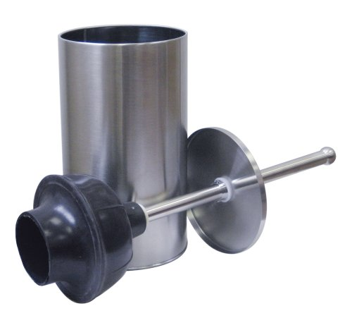 Stainless Steel Plunger and Caddy
