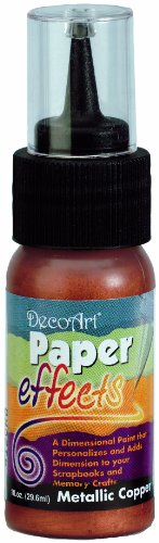 Paper Effects Paint 1oz Squeeze Bottle-Metallic Copper