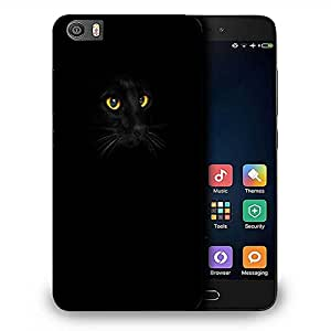 Snoogg black cat yellow eyes Designer Protective Back Case Cover For Samsung Galaxy J1