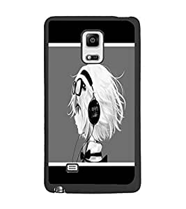PrintDhaba Music Girl D-1367 Back Case Cover for SAMSUNG GALAXY NOTE EDGE (Multi-Coloured)