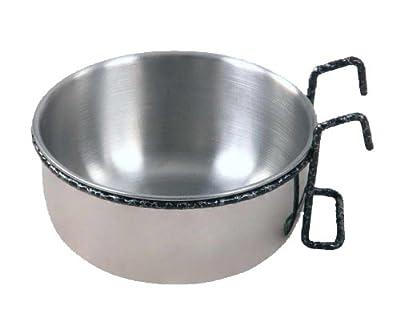 LITTLE FRIENDS Metal Feeding Dish Hook Bowl Coop Cup Medium 600ml