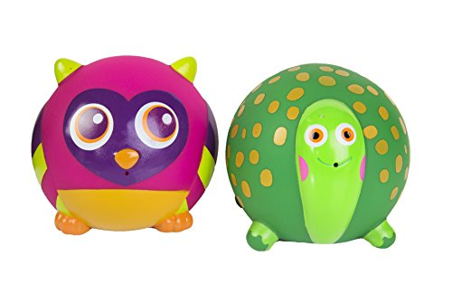 Oops Bath Friend Squirters with Turtle and Owl - Encourages Imaginative and Mental Development - Safe and Easy Clean - 11-Piece - Ages 4 Months and Up