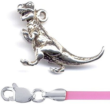 Sterling Silver T Rex Dinosaur Charm 16