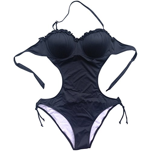 foclassy women 39 s sexy push up monokini one piece swimsuit. Black Bedroom Furniture Sets. Home Design Ideas