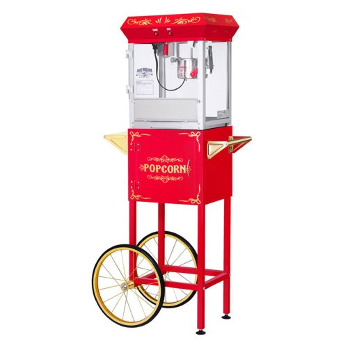 Great Northern Popcorn Great Northern Popcorn Gnp-400 All Star Popcorn Machine With Cart, Red