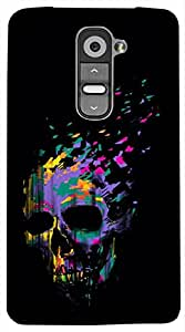 Timpax Slip-resistant, stain-resistant and tear-resistant Hard Back Case Cover Printed Design : A skull.Precisely Design For : LG G3 Stylus ( D690N )