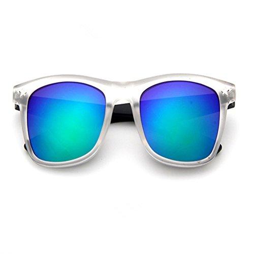 O-C Unisex Wayfarer occhiali da sole 45mm Lens trasparente Transparent