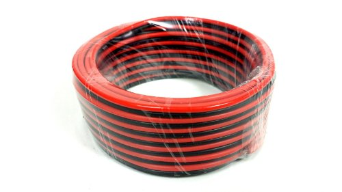 100' Feet 14 Gauge Red Black Stranded 2 Conductor Speaker Wire Car Home Audio Ga