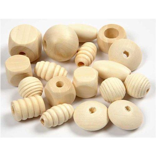 Perline di legno, dimensioni 15-25 mm, le dimensioni del foro 5-10 mm, 400 ml, Chinaberry
