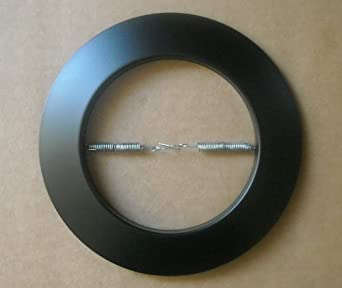 Metal Open Trim Ring For 6 Inch Ceiling R40 PAR38 Recessed Light Can BLACK