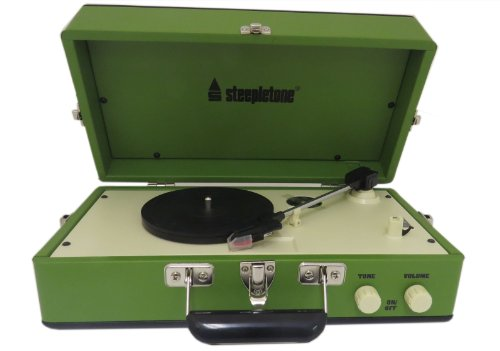 Steepletone Srp025 3 Speed Record Player With Detachable Speaker - Green