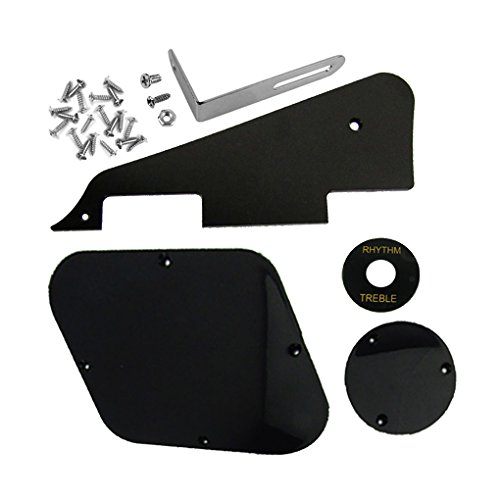 ikn-1set-black-pickguard-cavity-switch-covers-pickup-selector-plate-bracket-screws-for-lp-guitar-sty
