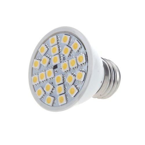 Kingzer 5050 Smd 220V 5W 24 Led E27 Led Light Bulb Lamp Spotlight White/Warm White