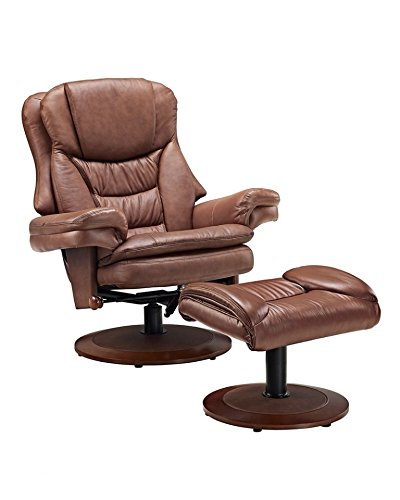 Swivel Recliner With Ottoman front-423151