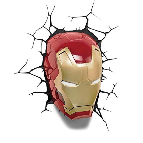 Official Marvel Avengers Ironman 3D Wall Mount Night Light