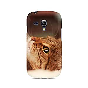 Mobicture Cat Lying Premium Printed Case For Samsung S3 Mini 8190