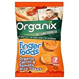 Organix Finger Foods Organic Carrot & Tomato Rice Cakes Stage 2 From 7+ Mths 50G