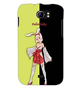 PrintDhaba Bold girl D-3207 Back Case Cover for MICROMAX A110Q CANVAS 2 PLUS (Multi-Coloured)