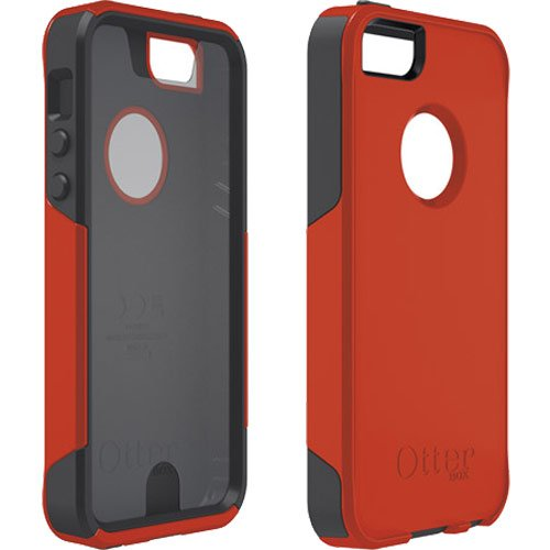 Special Sale Otterbox iPhone 5 Commuter Case Series Case - (Bolt) Light Red/Orange/Grey