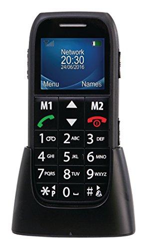 Premium Großtasten Handy Senioren Handy - ohne Vertrag - mit Radio Freisprechfunktion & Taschenlampe ! Hörgerätekompatibel