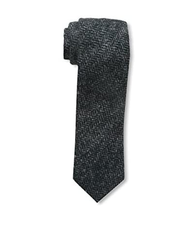 Rossovivo Men's Sir Mini Zigzag Tie, Green/Grey