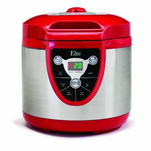 Maximatic Epc-607 Elite Platinum 6-Quart Digital Electronic Pressure Cooker, Red