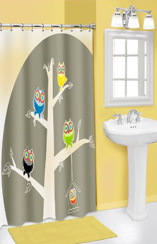 Popular Bath Owl 3D Shower Curtain