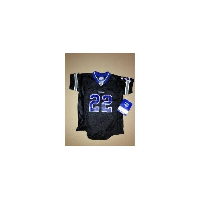 fba3aef5b New Reebok NFL Black Throwback Dallas Cowboys Emmitt Smith  22 Jersey  Onesie Toddler size (