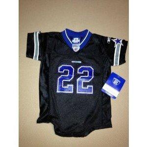 46392b887 New Reebok NFL Black Throwback Dallas Cowboys Emmitt Smith  22 Jersey  Onesie Toddler size (18 MONTHS) on PopScreen