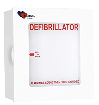 Alarmed AED Defibrillator Wall Mounted Storage Cabinet Fit for Philips and Most Major Brands