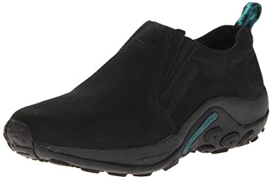 Merrell Women's Jungle Moc Nubuck Slip-On Shoe,Black,5 M US