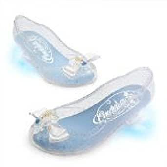 Disney Store Princess Cinderella Light Up Shoes Costume Slippers: Size 2/3
