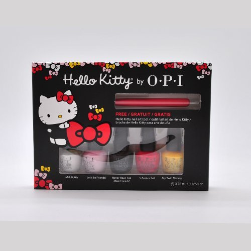 OPI-Hello-Kitty-Nail-Lacquer-Collection-5-Mini-Set-125-fl-oz-Nail-Art-Tool