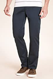 North Coast Pure Cotton Slim Fit Straight Leg Chinos [T17-1735N-S]