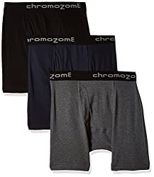 Chromozome Men's Cotton Trunk (Pack of 3) (8902733343923_IT 11_Small_Coal, Navy and Black)