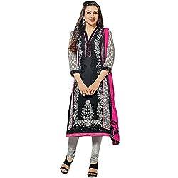Vasu Saree Perfect Karishma Kapoor Hot Pink & Black Festival Churidar Salwar Suit-40006