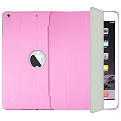 AirPlus Aircase Smart Hardback Protection with Cutout for Apple iPad Air (Pink)