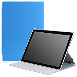 MoKo Microsoft Surface Pro 4 Case - Ultra Slim Lightweight Smart-shell Stand Cover Case for Microsoft Surface Pro 4 12.3 inch Tablet, BLUE